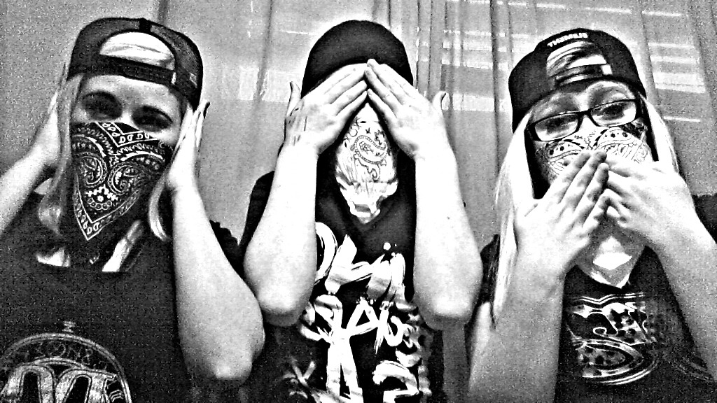 sk8fast-diepretty:  Hear no evil, See no evil, Speak no evil.