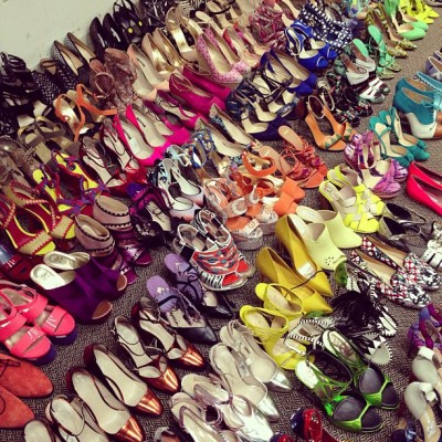 Shoe porn via glamour:  Just another day in Glamour's Fashion closet! photo via @mduenasjacobs instagram