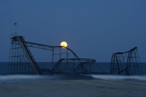 snowce:  Michael Reynolds, Casino Pier after Hurricane Sandy, Seaside Heights, N.J.
