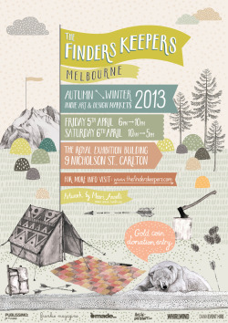 The Finders Keepers AW13 Melbourne Markets flyer