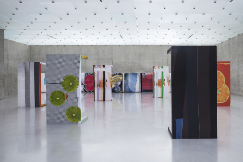 Wade Guyton, Guyton\Walker, Kelley Walker  AT Kunsthaus Bregenz Installation view 3rd floor, Kunsthaus BregenzPhoto: Markus Tretter© the artists and Kunsthaus Bregenz