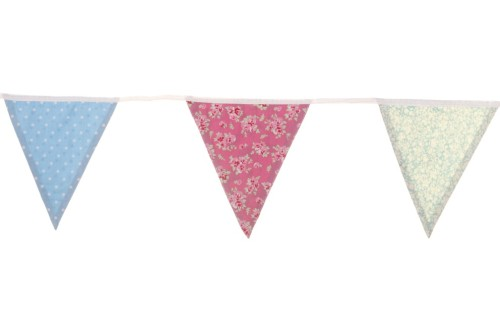 Our gorgeous 100% cotton English floral triangle bunting is now £9.45, from £18.75!
