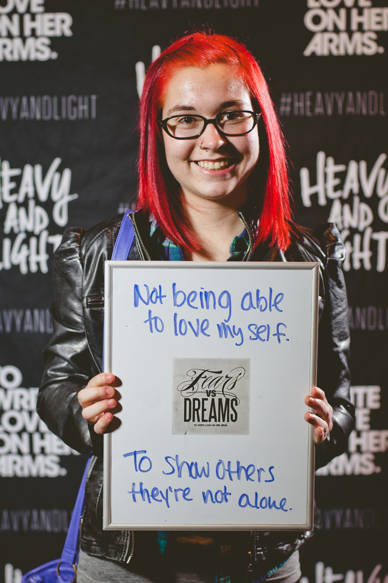 fearsvsdreams:  Fear: Not being able to love myself. | Dream: To show others they're not alone.