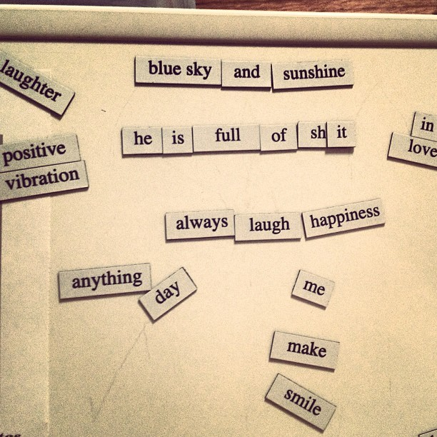 Guess which positive magnets phrase is mine!!