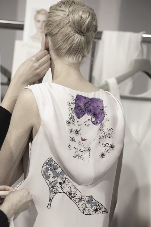 voguelovesme:  Backstage Christian Dior Fall 2013