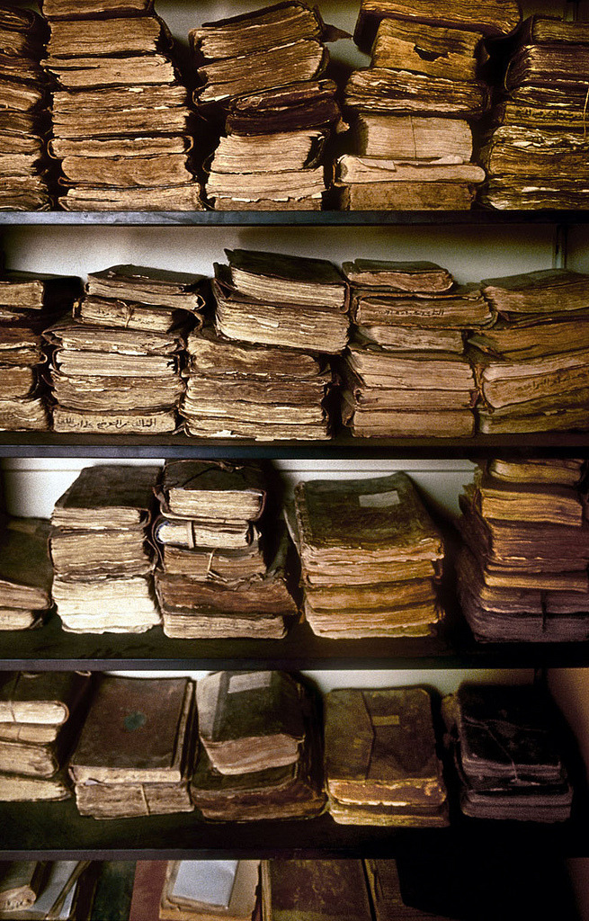 sarraounia:  Ancient manuscripts in one of the endangered libraries of Chinguetti, Mauritania