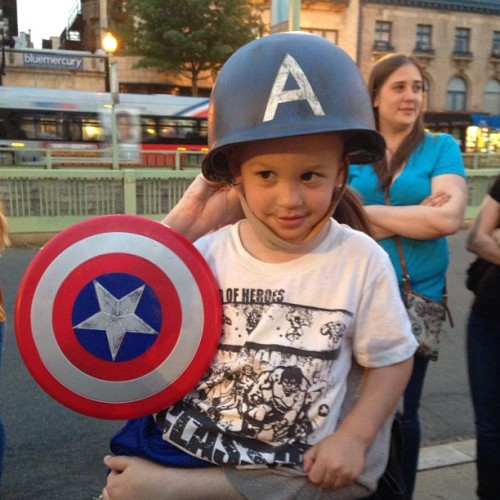 It's a #captainamerica party in Dupont tonight.