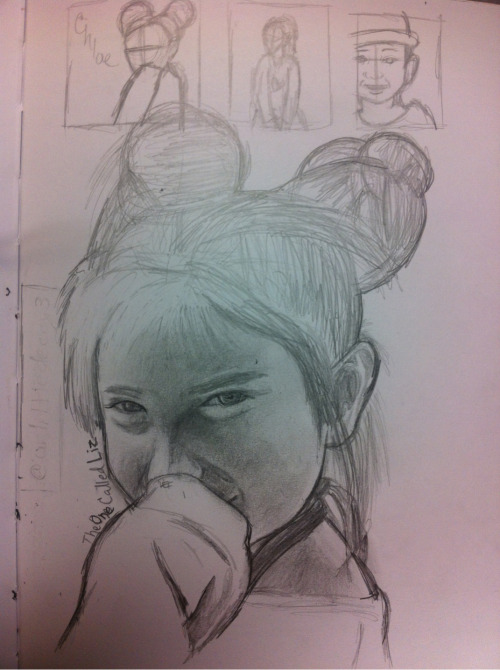 theonecalledliz:  An unfinished drawing I drew of Chloe Clancy aka Baby Wolf  Nice!