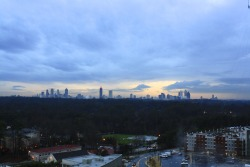 melaniemeetsworld:  Today I found a beautiful view of the Atlanta skyline.   Feb 11, 2013
