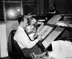boredpanda:  Old Photos Reveal How Disney's Animators Used A Real-Life Model To Draw Alice In Wonderland