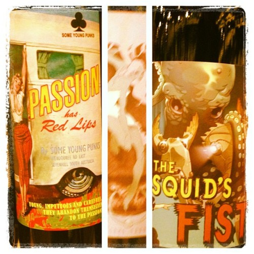 Awesome wine labels from 'Some Young Punks'!!! (at Vintage Cellars)