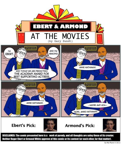 OSCARS 2013 — BEST SUPPORTING ACTRESS: Predicted by Ebert & ArmondRoger Ebert & Armond White predict this year's winner for Best Supporting Actress. Ebert's…View Post