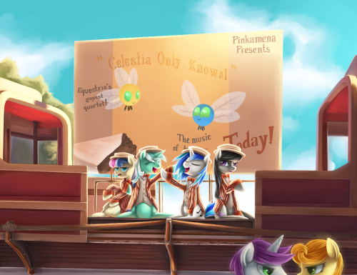 askbananapie:  Barbershop Pony Quartet by ~Aurarrius