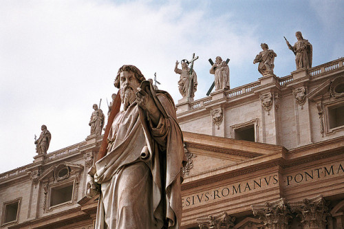 ysvoice:  | ♕ |  Statue of Saint Paul at St. Peter's Square  | by © julencin2000