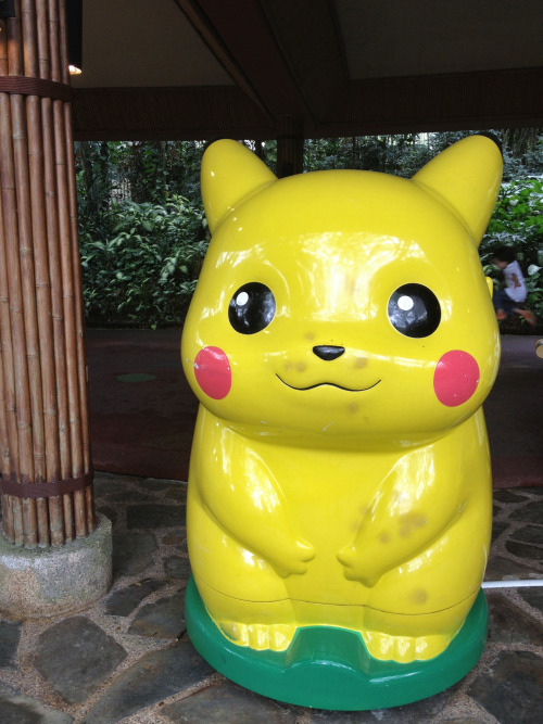 Pikachu video game @ a zoo.