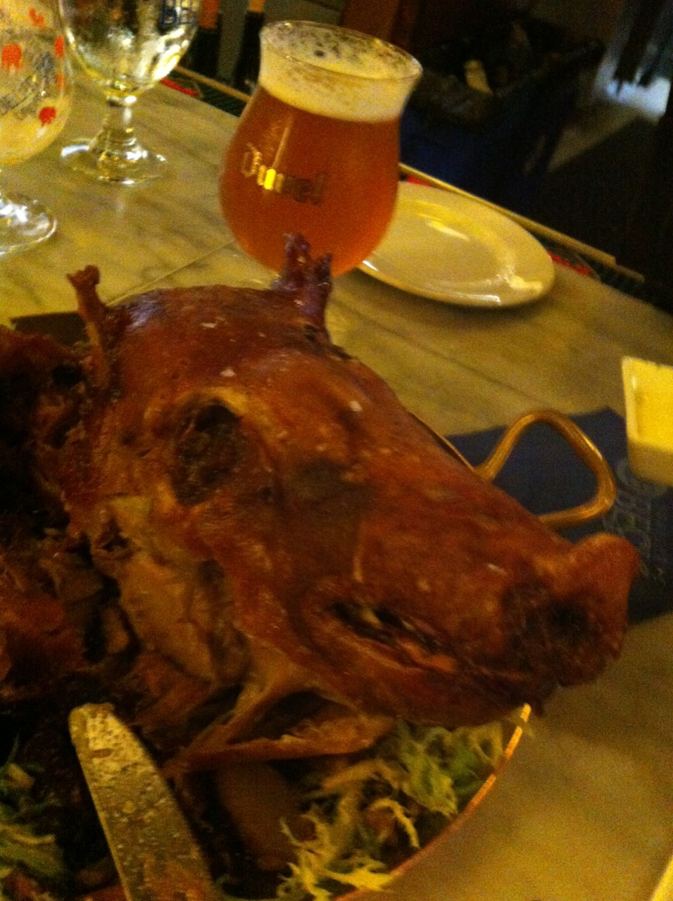 Eating this pig head was surprisingly NOT the most interesting aspect of last night.
