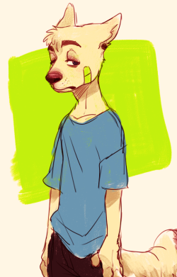 happyds:  doodled maddys furry guy, Sighs `w`