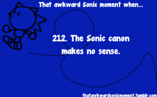 The events of Sonic 06 never happened…aaand then Generations turned around and included an 06 level, which was Crisis City. Submitted by red-ysetgo~