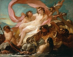 Go home Venus, you're drunk. ~ Joseph-Marie Vien Venus Emerging from the Sea, ca. 1754-1755