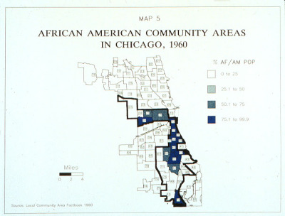 1960 demographic map of Chicago, against which take place RAISIN IN THE SUN, CLYBOURNE PARK, and BENEATHA'S PLACE, the 3 pieces of #CSRaisin RAISIN CYCLE at centerstage.