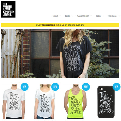 twloha:  The best way to browse our new designs? Our new online store. Take a look at store.twloha.com.