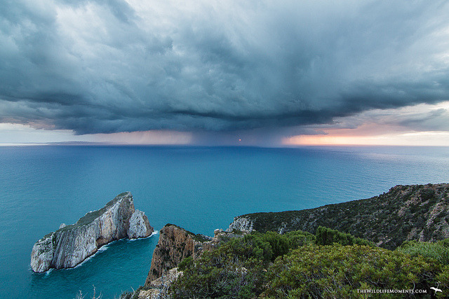 fuckyeahsardinia:  Pan di Zucchero, Masua, Sardinia  coming storm by wildlifemoments on Flickr