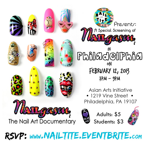 NAILgasm x Philadelphia is here! 2/12/13. I hope to see some of you there <3 #NAILgasm