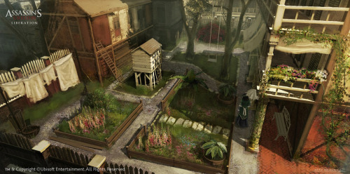 (via Concept Art World » Assassin's Creed III Liberation Concept Art by Eddie Bennun)