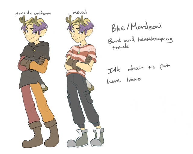 Made a witch sona cuz I was bored lmao ( I was originally gonna just do my usual persona which is the floating deer skull, tiny floating bat wings and clothes but then decided that I wanted to do something more human ) #witch sona #the owl house #toh#character design#ocs#persona#oc#original character#original chacacter #the casual design is somewhat like one of my own outfits lmao  #deer boy go brrrrrrrrrrrrrrrrr  #I attempted at the owl house style  #he has gloves cuz the og persona design has gloves all the time