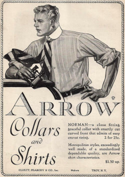Leyendecker for Arrow Collars, again and again… 1916.