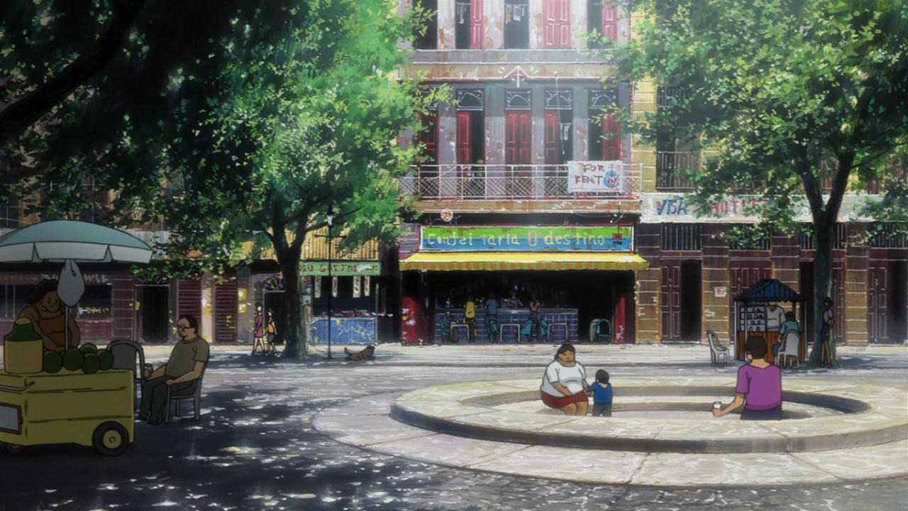 anime-backgrounds:  Michiko to Hatchin. Produced by studio Manglobe and directed by Sayo Yamamoto.