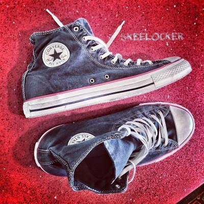 "djskee:  #SkeeLocker 097/365: Converse Chuck Taylor ""Well Worn"" Pack Beluga Edition. Keepin it OG today. Best thing about these is you don't have to worry about getting dirty!"