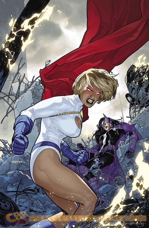 """As Power Girl Returns To Her Classic Look"" World's Finest #12 Brings Back The Boob Window via Bleeding Cool One of comics' ongoing costume controversies, the classic Power Girl costume and its ""boob window"", returns for another round: They sort-of did this briefly last year. It looks (and sounds, from the solicits) a bit more permanent this time, but I guess time will tell. CBR has the Justice League group solicit covers and details: WORLDS' FINEST #12Written by PAUL LEVITZArt by KEVIN MAGUIRE and GERALDO BORGESCover by RYAN SOOKOn sale MAY 1 • 32 pg, FC, $2.99 US • RATED TAs Power Girl returns to her classic look, DeSaad wreaks havoc on her tech empire—and PG and Huntress find themselves hunted by the talented torturer from Apokolips."