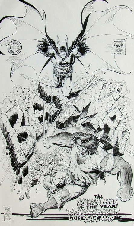 Designersgotoheaven.com - Arthur Adams Batman 194 Cover Recreation.