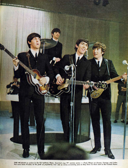 theswinginsixties:  The Beatles on the Ed Sullivan Show, 1964