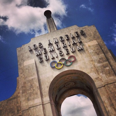 There are things I'll miss about you, L.A. (at Los Angeles Memorial Coliseum)