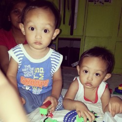 My two nephews :3 sooo cute #Xander #Aedrielle #instababies #cute