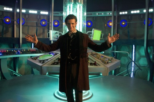 The Doctor shows off the brand new TARDIS interior - plus, some smooching!  What do you think about the revamp??