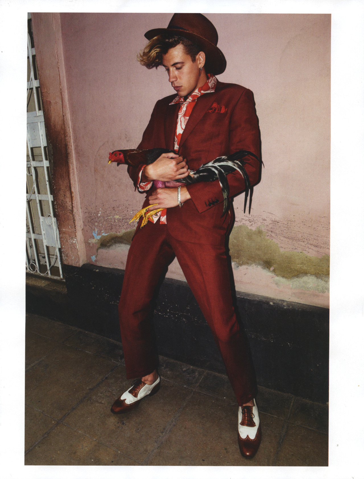 Lyle Lodwick for Vogue Homme International Spring Summer 2013 Photographer: Glen Luchford Stylist: Anastasia Barbieri