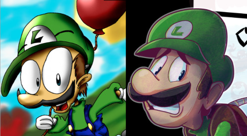 Found a really old drawing of Luigi I did in 2006…Oh My, those eyes…