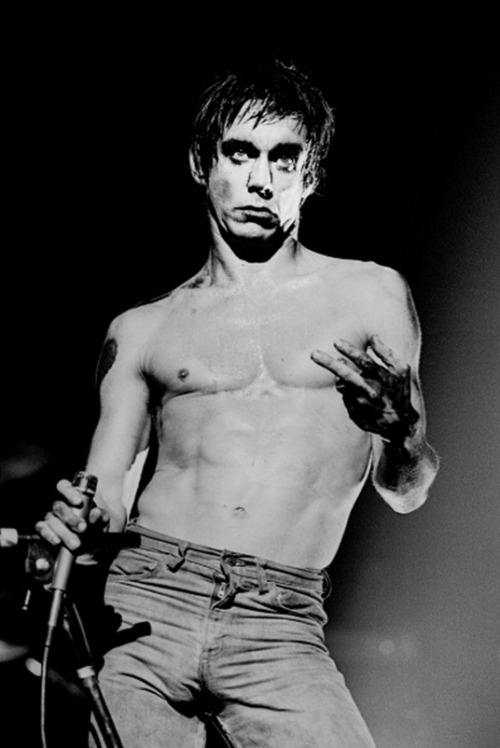 astralsilence:  Happy 66th Birthday Iggy Pop! Photo by Gus Stewart, London, 1977.