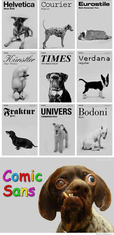 #GoodMorning  If Dogs Were Also Fonts, What Font Would Each Breed Be?