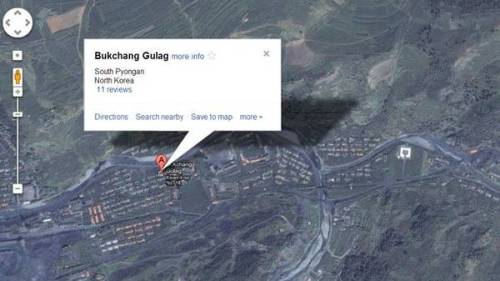 "ryanpanos:  Good adds North Korean death-camps to maps Called Map Maker, Google's information for the country's layout comes primarily from visitors and from former citizens who defected, according to a Wall Street Journal report. The mapping idea stemmed in part from a 28-year-old South Korean who tried to use Google maps on a trip to Laos four years ago, but found it unhelpful, at best. He ultimately helped devise the Google map application for North Korea. ""I thought if I could fill in information on North Korea, it might be useful in an emergency or tragedy if Google can provide a map for aid agencies,"" the South Korean told the Wall Street Journal.  —there are reviews."