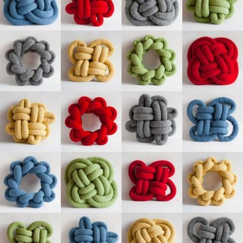 Knitting Machine Knot Pillow