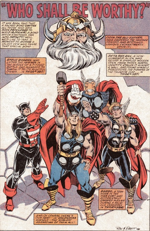 introvertedart:  I loved Ron Frenz and Brett Breeding on Thor. Especially when Brett was finishing over Ron Frenz. Brett added a lot to the art….