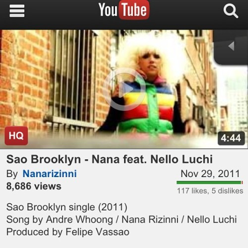 Make sure you watch this video… My friend @nanarizinni and I - Sao Brooklyn. Where Sao Paulo, Brazil & Brooklyn, NY connects…. #nanarizinni #nelloluchi #brooklyn #nyc #saopaulo #brazil #hiphop #pop #occupywallstreet
