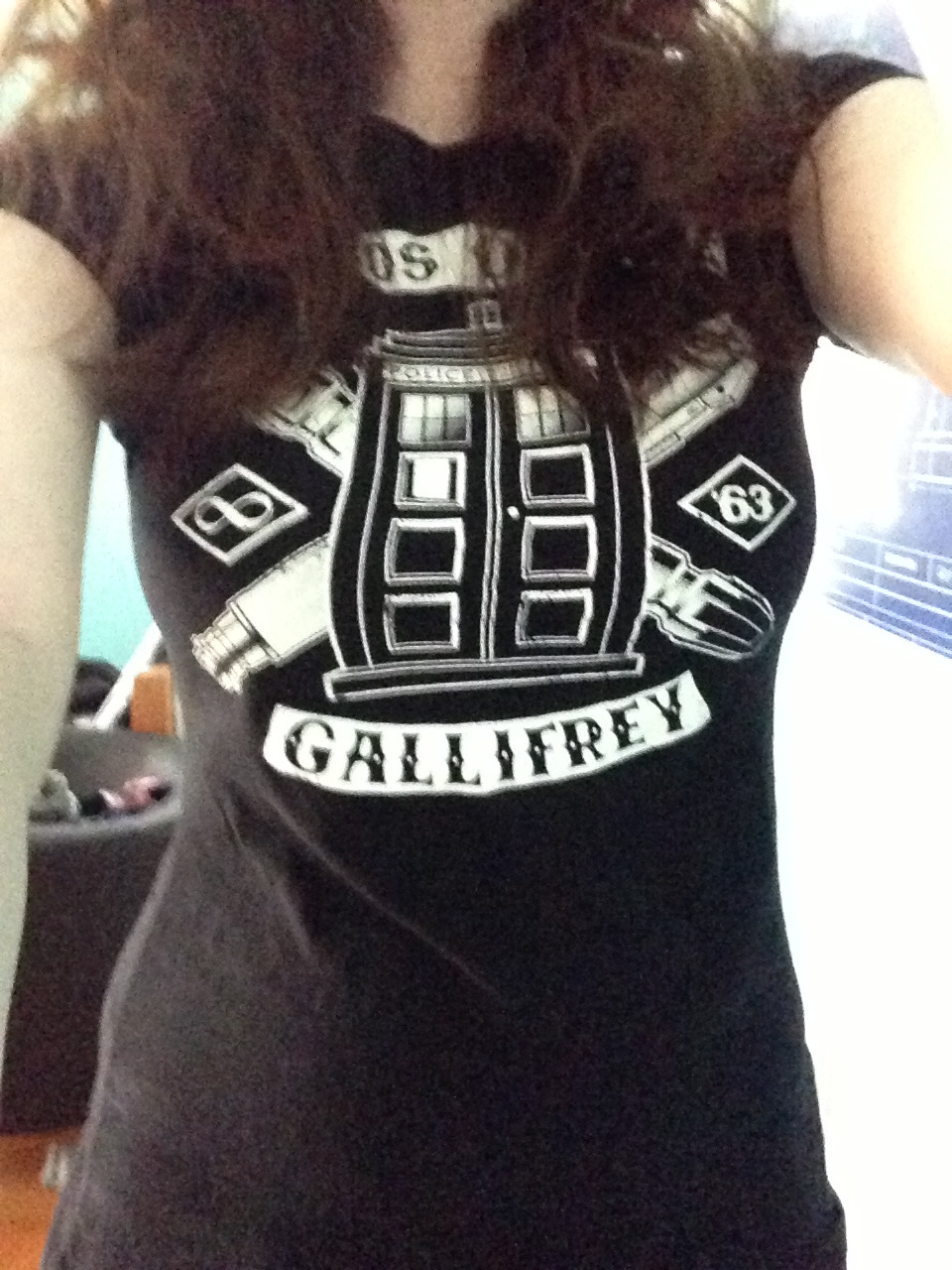eggs-ter-min-nate:  Put on one of my DW tshirts for the occasion