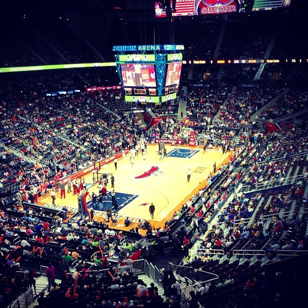 #hawks #nba  (at Philips Arena)