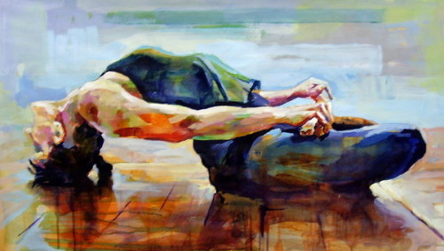 Yoga by Anthony Barrow~ acrylic painting on canvas