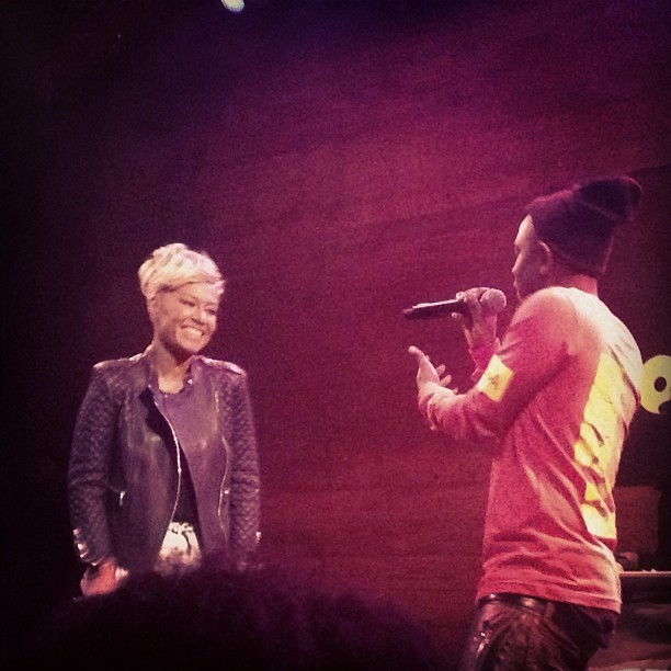 And @EmeliSande blessed the stage! #BitchDontKillMyVibe thank you @rezaranian!